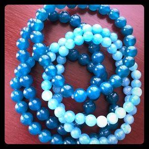 Beautiful Apatite beaded bracelets
